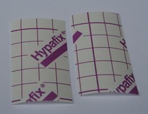 Hypafix tape cut to size