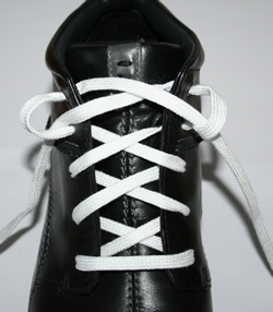 Shoe lacing - heel slippage
