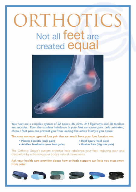 Orthotics - not all feet are created equal