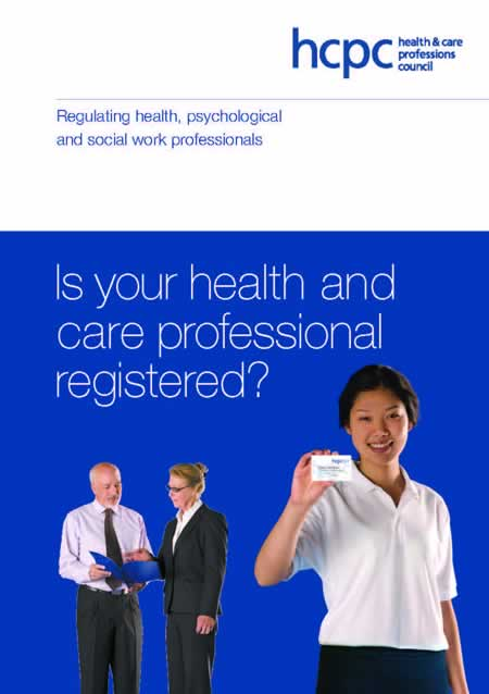 HCPC is your health and care professional registered