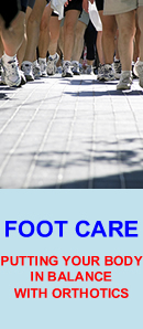 Footcare brochure - Putting your body in balance with orthotics